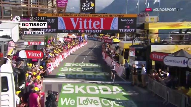 En plein di Geraint Thomas: beffa Nieve e si prende tappa e maglia gialla. Nibali in Top 10