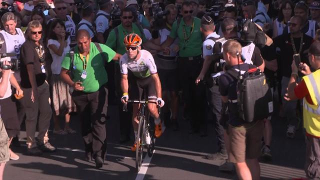 Hors délai mais au courage, Cavendish a tenu à rallier l'arrivée