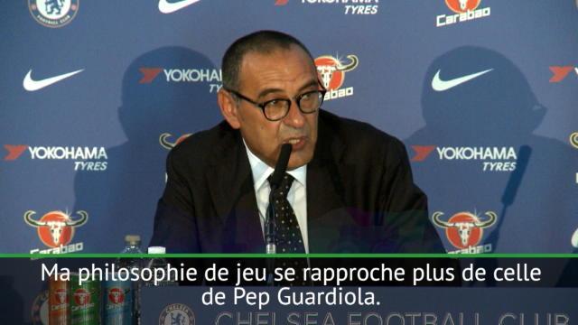 """Sarri : """"J'apprécie Mourinho mais je me sens plus proche de Guardiola"""""""