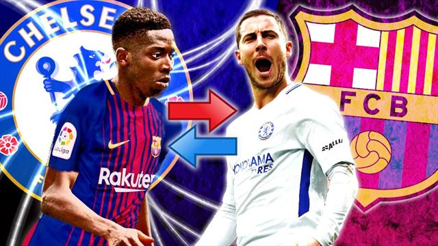 Euro Papers: Barcelona tempt Chelsea with Hazard-Dembele swap offer