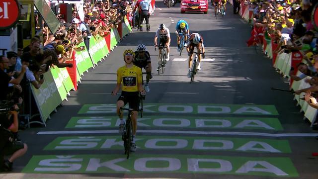 Fransa Bisiklet Turu: 12. etabın son anları