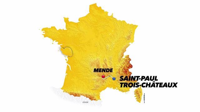 Tour-Strecke: So schwer ist die 14. Etappe nach Mende