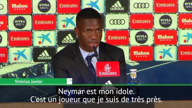 """Vinicius Jr : """"Neymar est mon idole"""""""