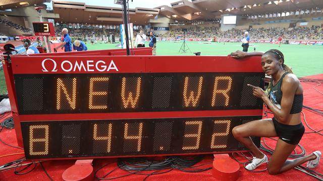Chepkoech bat le record du monde du 3000 m steeple
