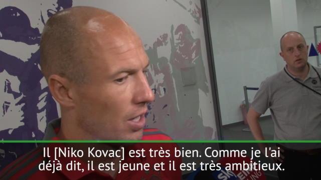 Robben : «Nous allons suivre et soutenir Kovac»