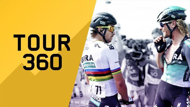 """""""Tour 360"""": Sagan, Oss e le corse doppie. Tutto il meglio e il dietro le quinte della 14a tappa"""