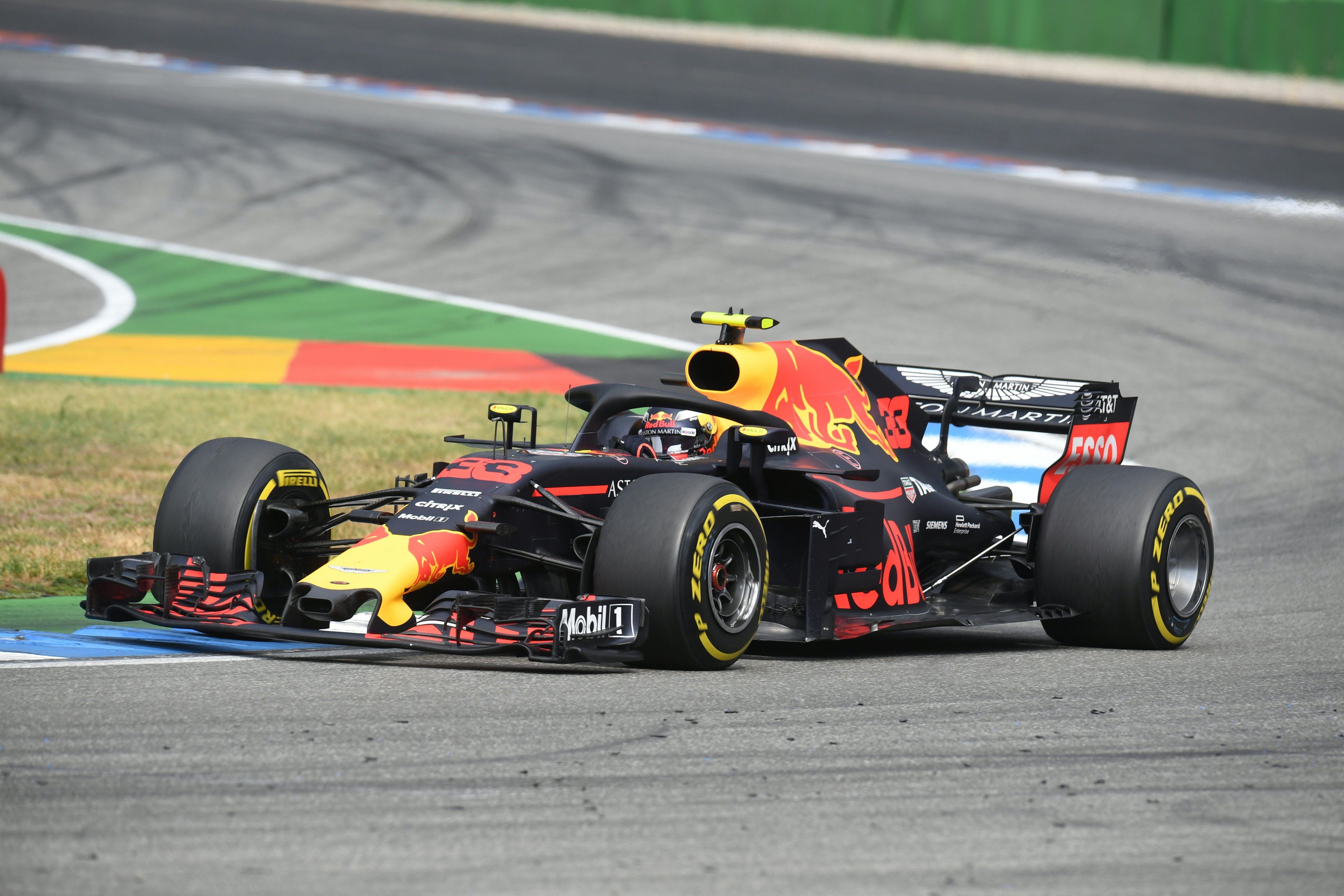 Max Verstappen lors du Grand Prix d'Allemagne 2018