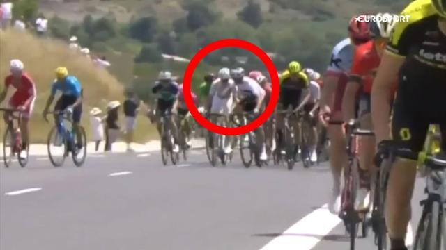 """Tour de Francia: El Italiano Moscon, compañero de Froome y Thomas, excluido por """"agresión grave"""""""