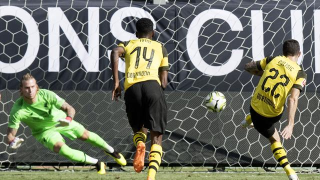 Pulisic at the double as Dortmund come from behind to beat Liverpool