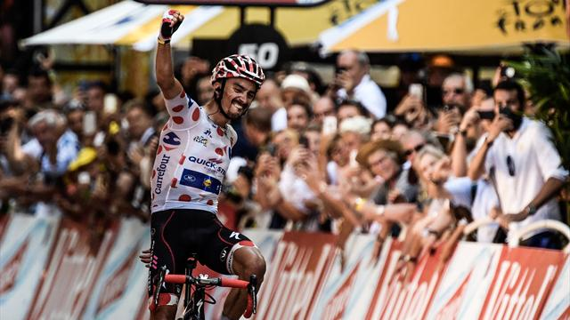 Alaphilippe soars to win action-packed Stage 16 after late Yates drama
