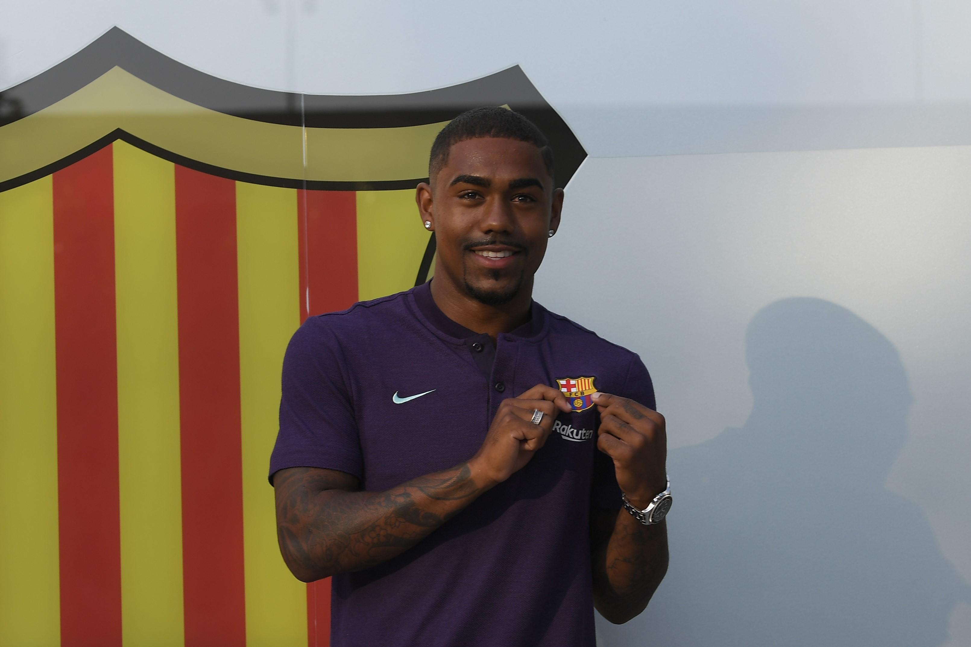 Malcom sous ses nouvelles couleurs du FC Barcelone