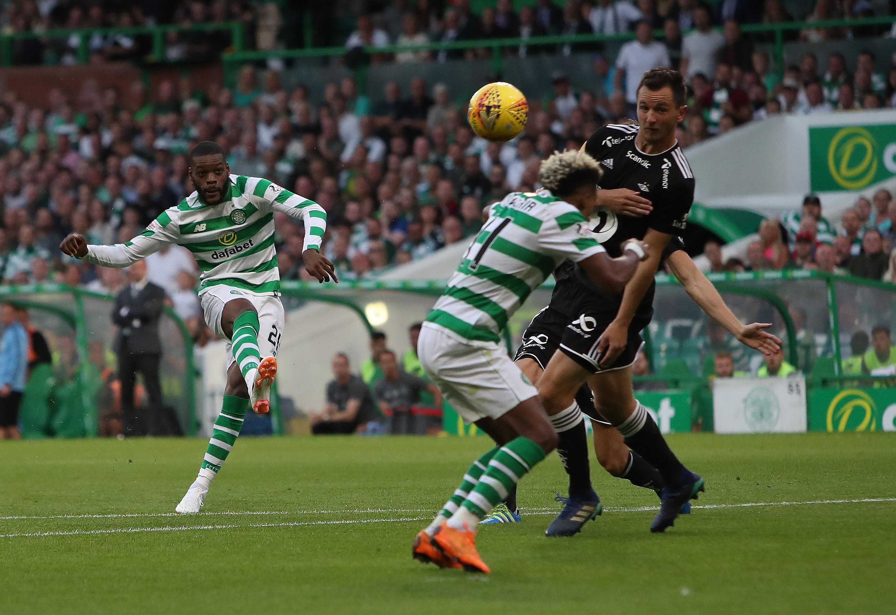 Olivier Ntcham lors de Celtic - Rosenborg / Ligue des champions