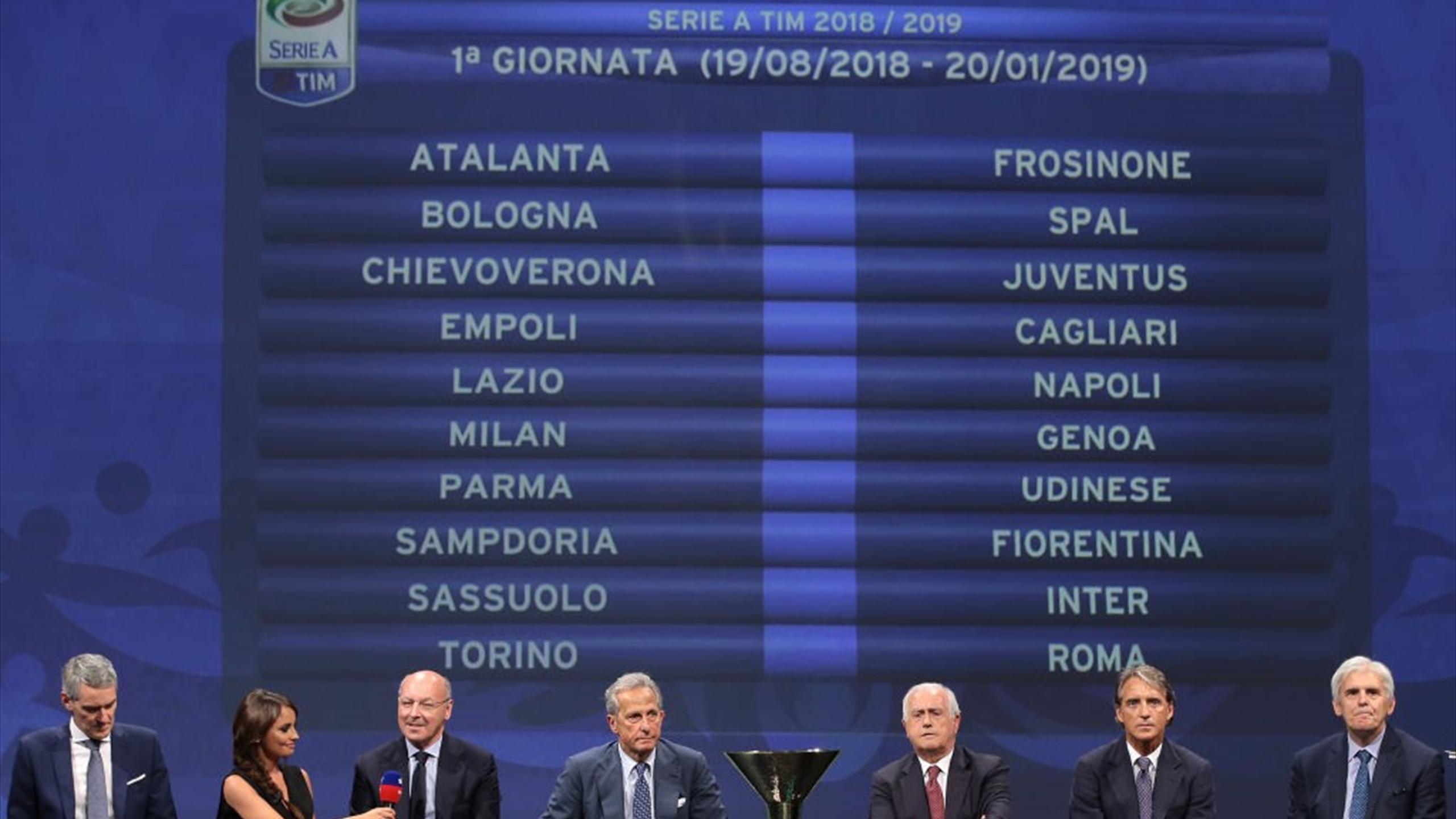 Il Calendario Completo Del Campionato Di Serie A 2018 19 Eurosport