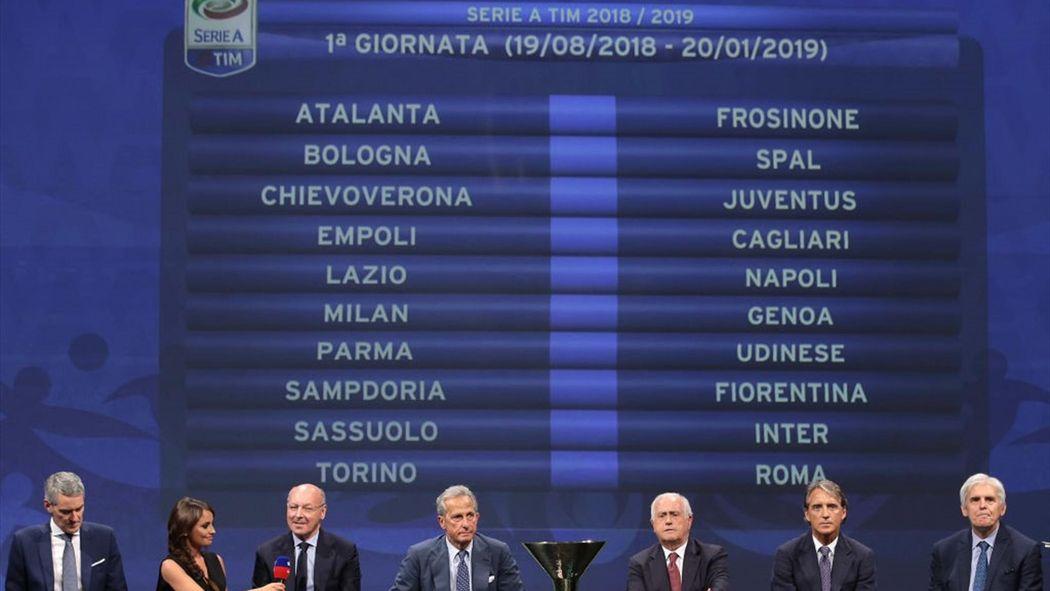 Calendario Milan Campionato.Il Calendario Completo Del Campionato Di Serie A 2018 19