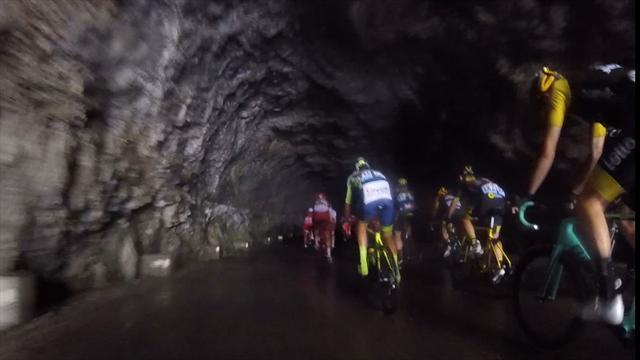 Tour Onboard: Wenn's im Tunnel auf einmal dunkel wird