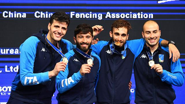 France win women's team sabre, Italy land men's team foil at 2018 Fencing World Championships in