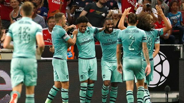 Lacazette at the double as Arsenal cruise to win over PSG