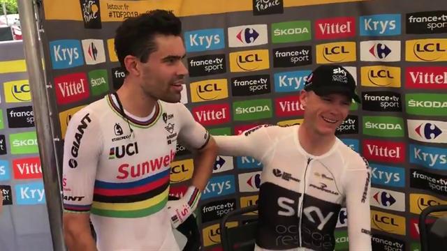 Tour de Francia 2018: ¿Quién ha ganado? El divertido momento entre Dumoulin y Froome