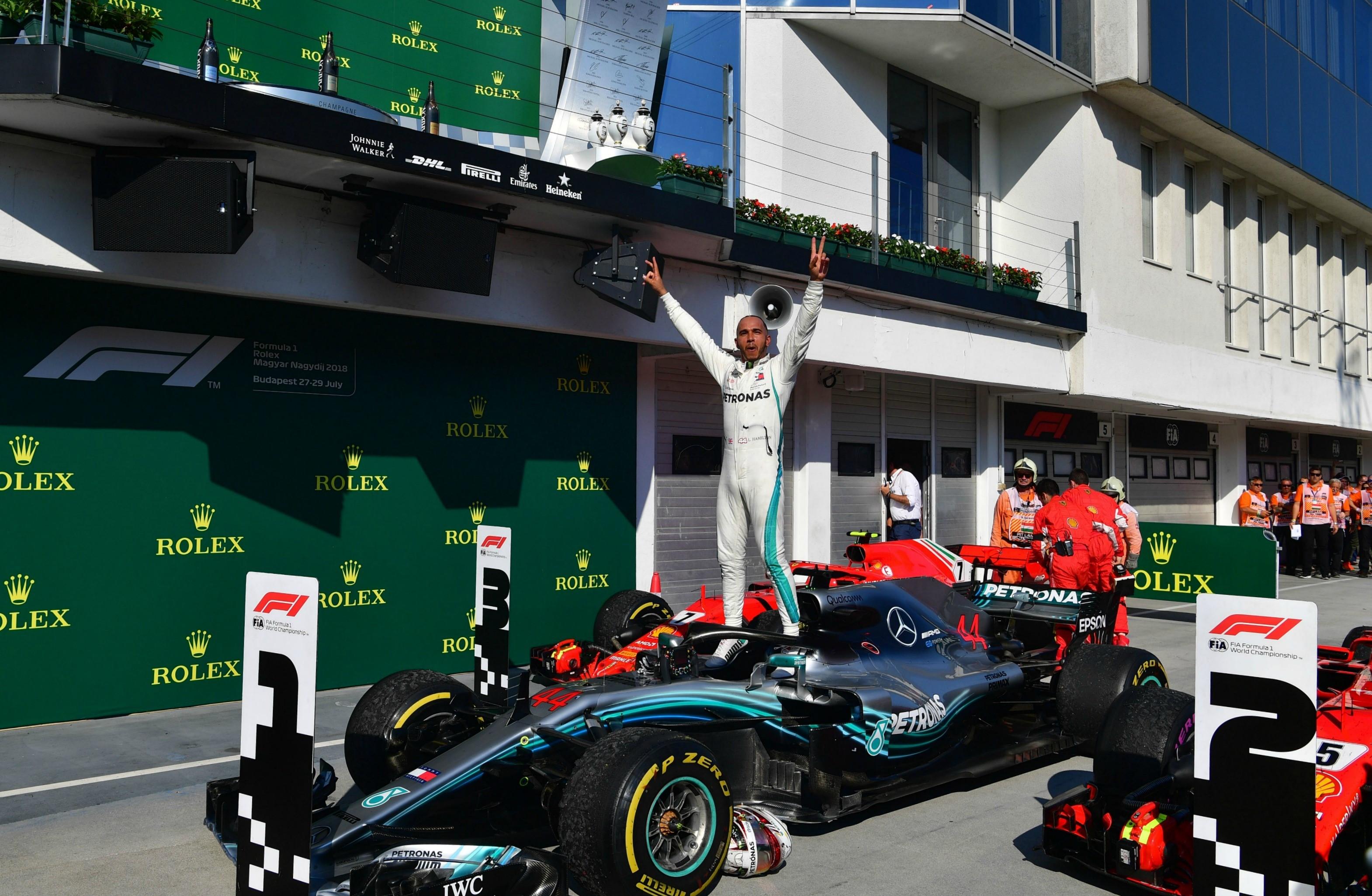 Lews Hamilton (Mercedes) au Grand Prix de Hongrie 2018