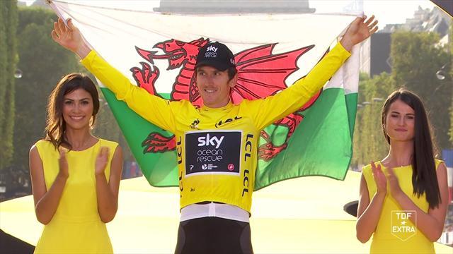 Tour de France: Thomas receives his yellow jersey