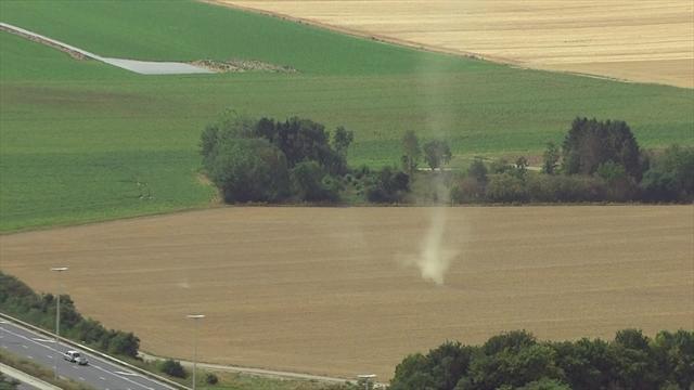 Tour de Valonia: Un mini-tornado dio el susto durante la quinta y última etapa
