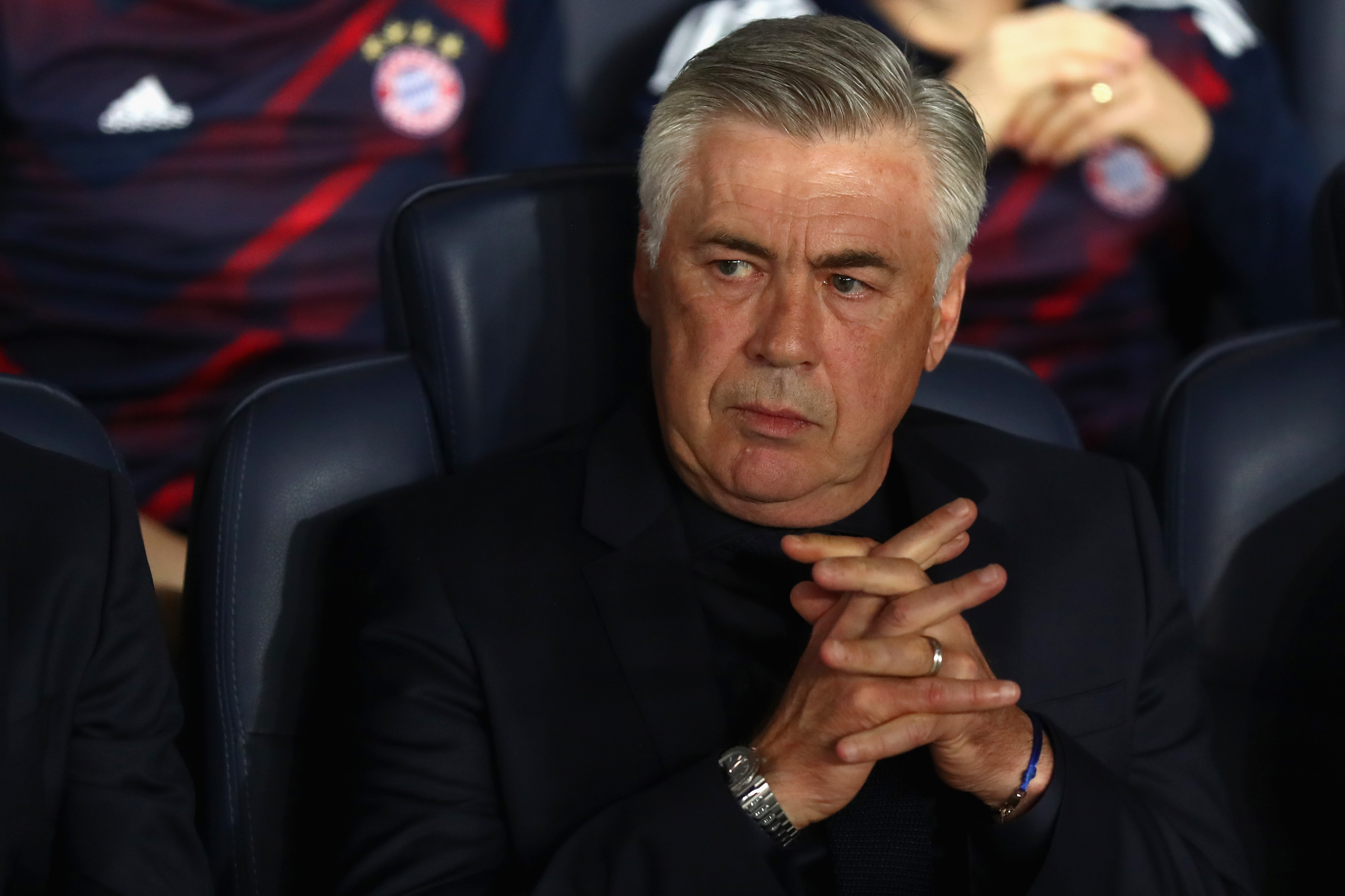 Carlo Ancelotti (FC Bayern Munich) le 27 septembre 2017à Paris
