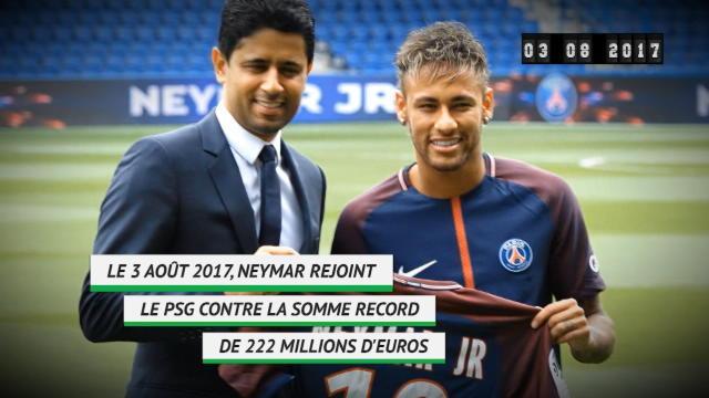 Il y a 1 an - Le transfert record de Neymar au PSG