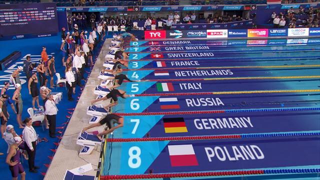 Campeonatos Europeos: Francia gana a Holanda en los 4x100m libre femenino