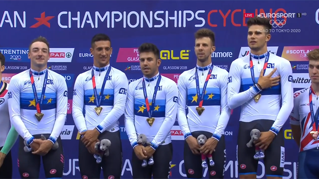 Mondiali di ciclismo su pista: delusione Italia, il quartetto azzurro è eliminato in batteria
