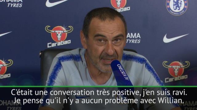 Sarri : «Très confiant pour que Willian reste avec nous»