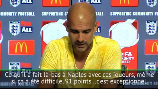 Guardiola : «Le Naples de Sarri était exceptionnel»