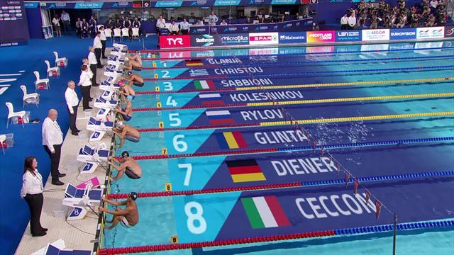 Блестящий заплыв русских на 100 метрах на спине: у Колесникова третье золото ЧЕ, у Рылова – серебро