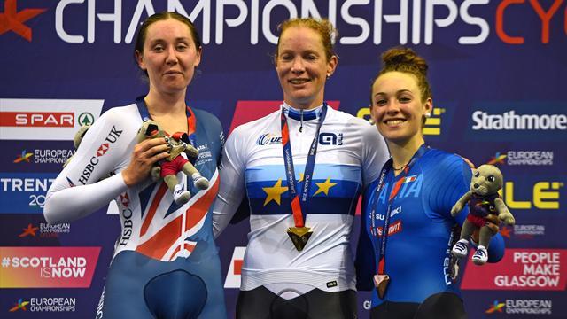 Ciclismo su pista, Europei Glasgow 2018: bronzo per Paternoster nell'omnium