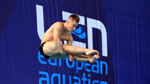 Laugher takes 1m Springboard gold