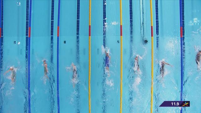 Toussaint tikt als laatste aan in finale 100 meter rugslag