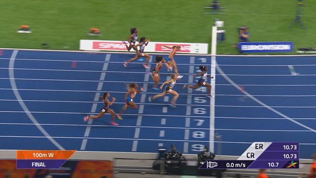 Avrupa Atletizm Şampiyonası: Kadınlar 100 metre finali