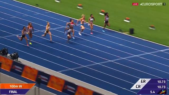 """Brittiskan segrade i 100-metersfinalen: """"Vilken tid vi ser"""""""