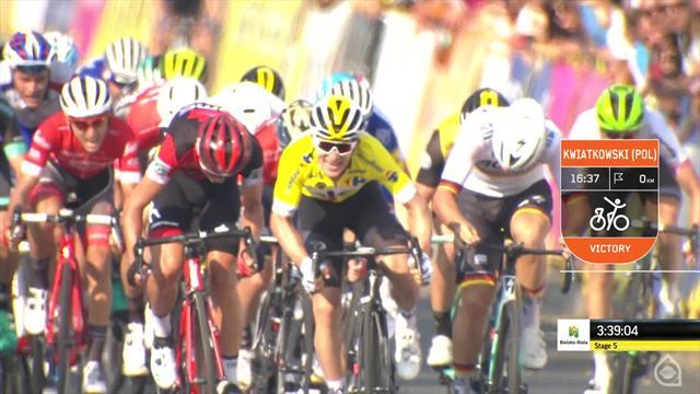 Tour de Pologne : Michal Kwiatkowski s'impose pour la première fois à domicile