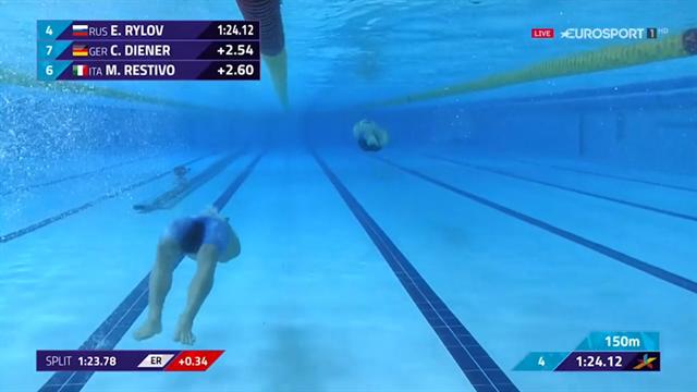 Matteo Restivo bronzo e record italiano nei 200 dorso: rivedi il finale della sua gara