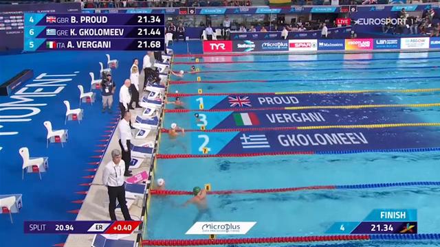 Andrea Vergani bronzo nei 50 metri: rivedi la sua gara