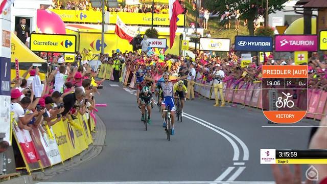Tour de Polonia (Momentos 6ª etapa): Preidler, un ascenso meteórico y Kwiatkowski como seguro líder