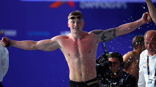 Watch Peaty claim fourth gold as GB's men storm to 4x100m medley relay win