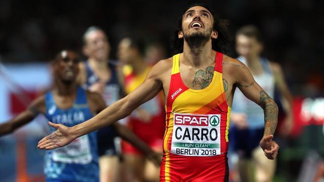 Europeos Berlín: Fernando Carro suma la segunda medalla para España, plata en los 3.000 obstáculos