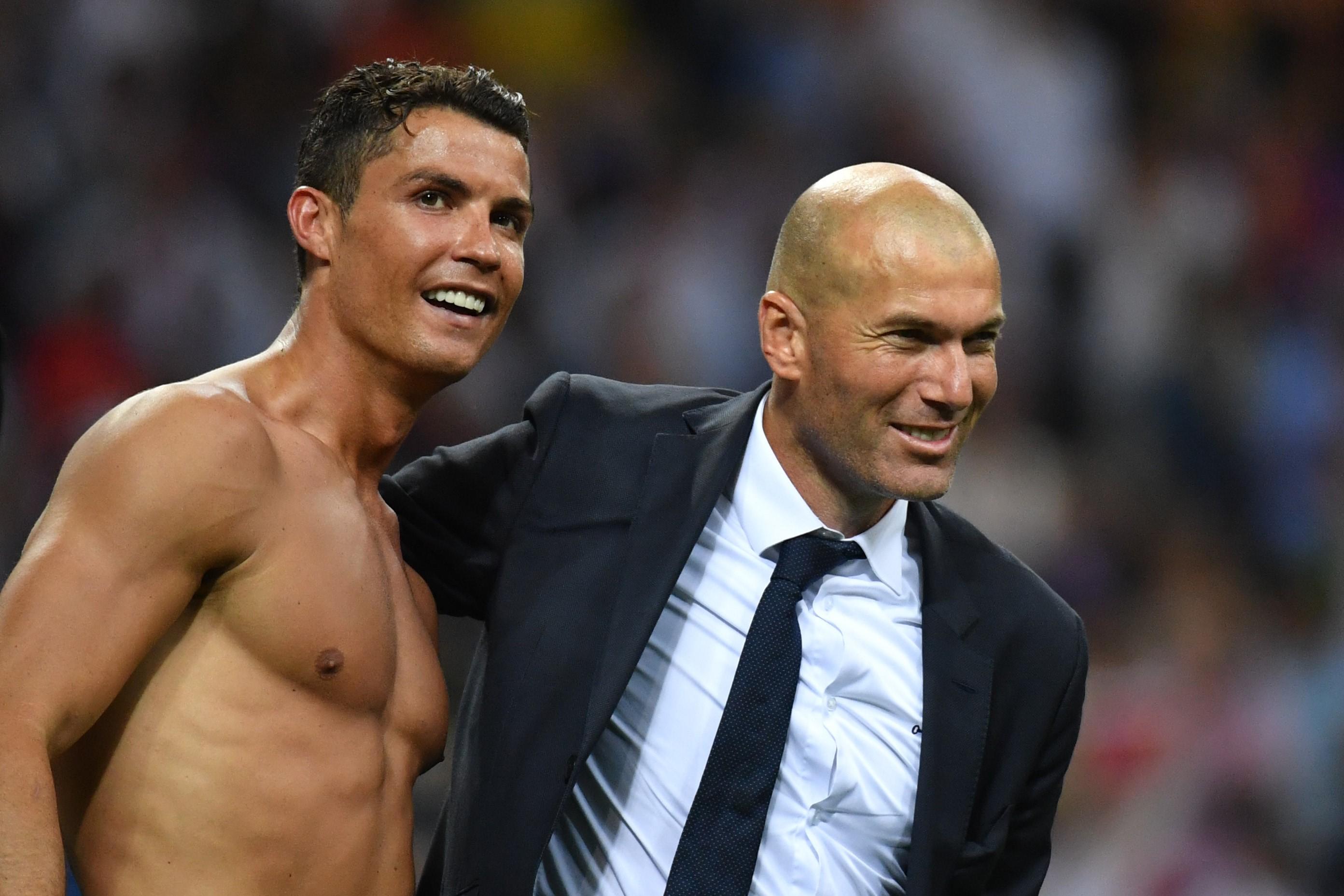 Zidane und Ronaldo