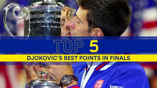 Top 5: i colpi più belli di Djokovic nelle sue finali agli US Open
