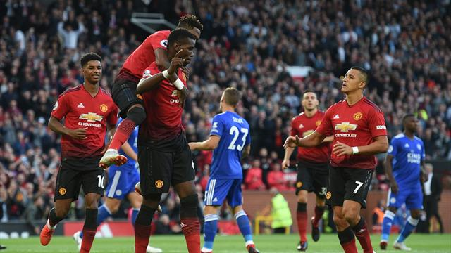 Pogba and Shaw give United opening-day win over Leicester