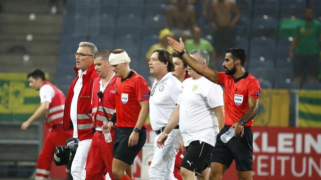 Ligue Europa: Un arbitre en sang évacué du match Sturm Graz-Larnaca