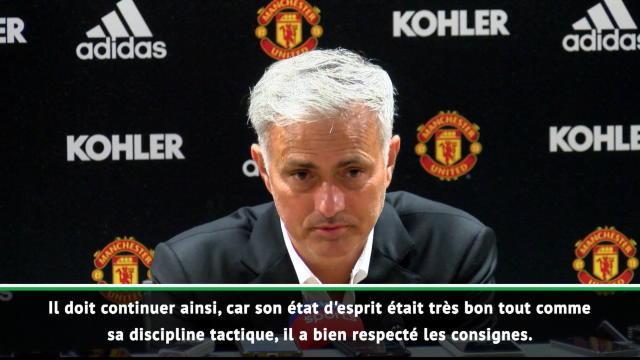 """1e j. - Mourinho : """"Très heureux de la performance de Shaw"""""""