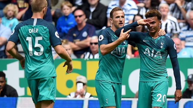 Tottenham ok con un po' di fortuna: 2-1 al Newcastle, che colpisce un palo e una traversa
