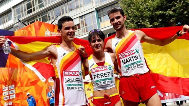 Álvaro Martín y María Pérez dan a España un doblete de oro histórico